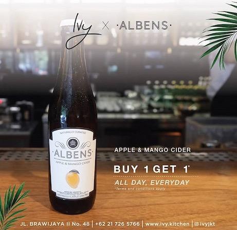 albens cider, Jakarta, Indonesia, promotion, bar