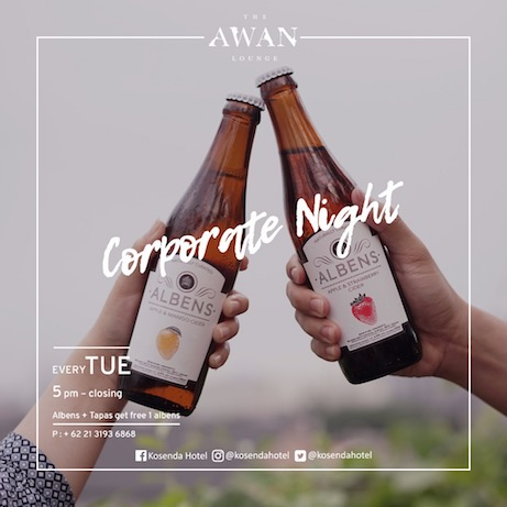 the awn, corporate night, party, cider, Indonesia, natural, Jakarta