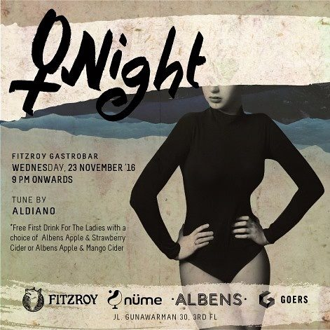 ladies night, party, Jakarta, Indonesia, albens cider, bar, drinks