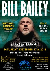Bill Bailey, comedy, cider, English, funny, standup, Indonesia, live, show