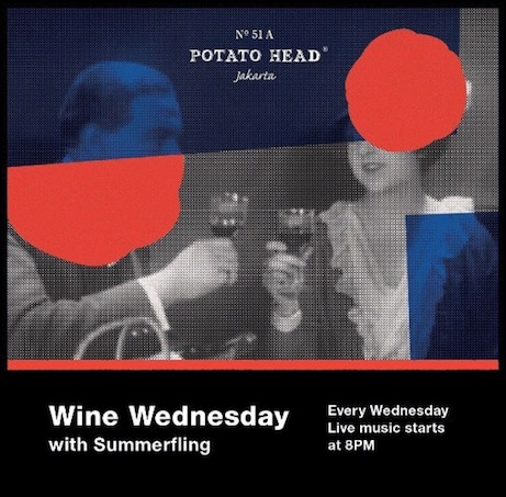 Jakarta, potato head, Indonesia, Wednesday, wine, party, bar, albens cider