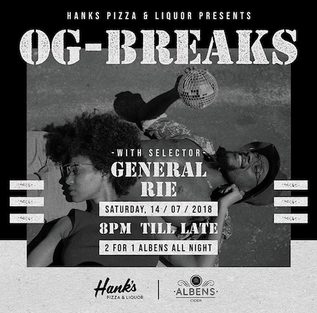 Hanks Pizza, OG Breaks, Indonesia, tropical, music, live, bar