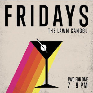 Friday, The Lawn, Canggu, beach bar, Indonesia, Bali, albens cider, cider, happy hour